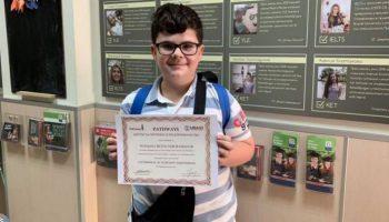 10-годишно момче от Пазарджик знае перфектно английски, яви се на изпити на Кеймбридж