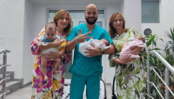 Близначки родиха близнаци / СНИМКИ